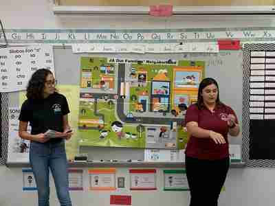 Lake Worth High School Heroes teaching at Palm Springs Elementary School